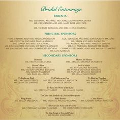 Wedding List On Bridal Entourage List  Invitation Ideas