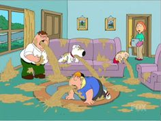 Scene From Family Guy Where Peter Brian Chris And Stewie Are All Barfing In The Living Room Gif Bin Is Your Daily Source For Funny Gifs Reaction