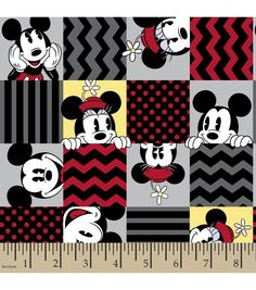 Disney Mickey And Minnie Cotton FabricDisney Mickey And Minnie Cotton Fabric,