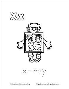 Letter X Coloring Book Free Printable Pages Book Letters Coloring Books Coloring Pages