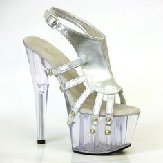 Stripper Heels Store - TONY SHOES - 7 Inch Heel Platform Sandal With Bulleted Straps And Open Toe, $79.98 (http://www.stripperheelsstore.com/tony-shoes-7-inch-heel-platform-sandal-with-bulleted-straps-and-open-toe/)