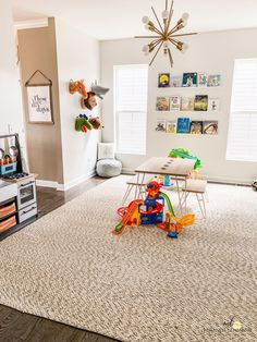 5 Tips For An Organized Playroom - When Life Gives You Lehmanns on Amazing Playroom Ideas 1487 Playroom Design, Playroom Decor, Playroom Ideas, Wall Decor, Playroom Furniture, Basement Ideas, Bedroom Furniture, Furniture Design, Playroom Organization