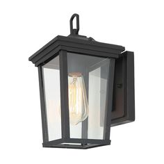 LNC Sabrina H Sand Black Medium Base Outdoor Wall Light at Lowe's. Brighten your outdoor space with this one-light outdoor wall lantern.Made from iron and glass in a charming weather-resistant finish. Outdoor Wall Lantern, Outdoor Wall Sconce, Outdoor Wall Lighting, Outdoor Walls, Wall Sconce Lighting, Wall Sconces, Outdoor Wall Decorations, Black Outdoor Wall Lights, Wall Lamps