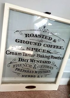 DIY Vintage Window Signs - Reader Feature - The Graphics Fairy