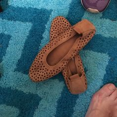 Leather flats Leather with stars as holes Shoes Flats & Loafers