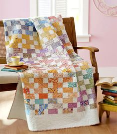 a nice scrappy quilt