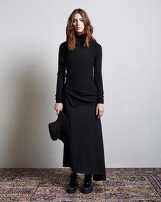 Forme d'Expression / Distorted Knit Pullover Yohji Yamamoto / Left Flare Skirt Yohji Yamamoto / Seamed Brim Hat (In-Store Exclusive) Hope / Bug Shoe #lagarconneatelier