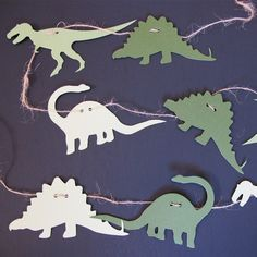 Green Dinosaurs Garland/Streamer 6ft by TurnbowDesigns on Etsy