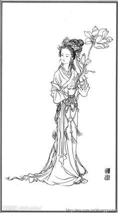 白描 神仙 玉女