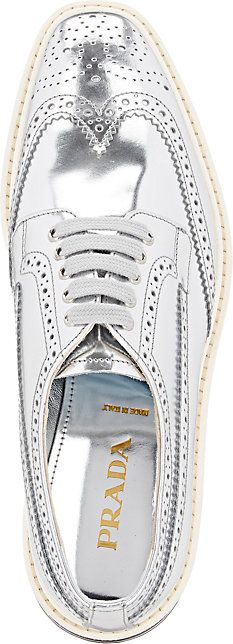 d5c75b089aa5c7 Prada Wingtip Brogue Platform Sneakers