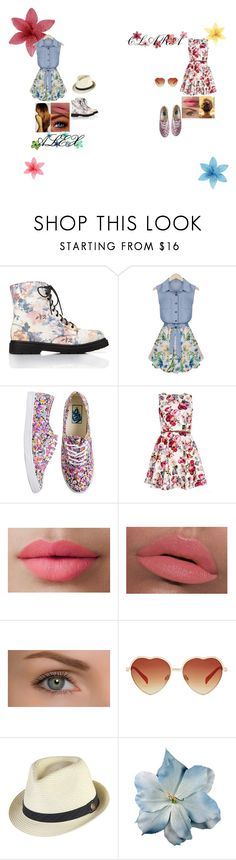 """A flowery spring with my BFF"" by glee2shake ❤ liked on Polyvore featuring Forever 21, Vans, Quiz, LORAC, Goorin and éS"