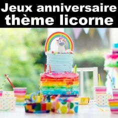 Des petits jeux sur le thème des licornes Happy Birthday Parties, Birthday Games, Unicorn Birthday Parties, Unicorn Party, Party Cakes, Party Favors, Pajama Party, Diy For Girls, Party Time
