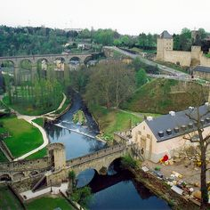 Luxembourg City, Luxembourg.   It's near my ancestral home, see casements, city wall, bridges.
