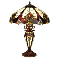 Tiffany-style Victorian Lighted Base Table Lamp - Overstock™ Shopping - Great Deals on Tiffany Style Lighting