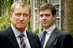John Nettles as Tom Barnaby with co-star DS Ben Jones as Jason Hughes from Midsomer Murders