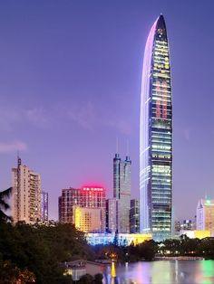 KK100 Development, #Shenzhen, #China, Asia #Architecture #Skyscrapers