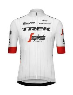 2018 Team Trek Tour de France Classic Cycling Jersey in White  Made in  Italy by Santini a0eb6f402