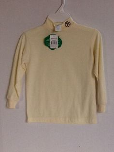 Girl Scouts Brownies Mock Turtleneck Beige Size X-Small Long Sleeves New!  #GirlScoutsofAmerica #Vest