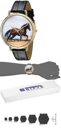 Other Wholesale Wristwatches 40133: Whimsical Watches Womens N0110032 Thoroughbred Horse Black Leather And Goldtone -> BUY IT NOW ONLY: $51.98 on eBay!
