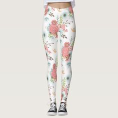 Colorful Floral Leggings