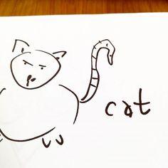 #cat#sketch#drawing#comics   - artwork by Charles Bridge 7x