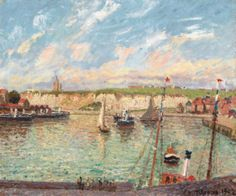 Camille Pissarro L'AVANT-PORT DE DIEPPE, APRÈS-MIDI, TEMPS LUMINEUX 1,400,000 — 1,800,000 USD Los Verkauft 1,538,500 USD