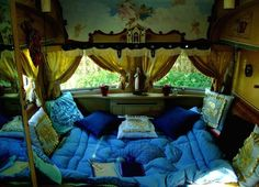 Gypsy Wagon Interiors | gypsy caravan wagon by cristina