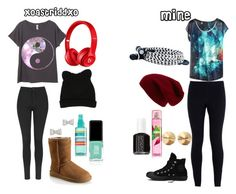 """Hanging with @xoastriddxo"" by hoodiesforlife on Polyvore featuring Topshop, George J. Love, UGG Australia, Beats by Dr. Dre, Jin Soon, Essie, NIKE, Marc by Marc Jacobs, Converse and Eddie Borgo"