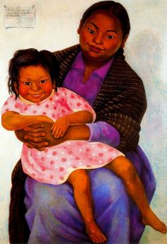 Portrait of Madesta and Inesita - Diego Rivera, 1939