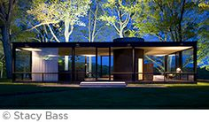 The Glass House at dawn. - modern - Exterior - Other Metro - The Philip Johnson Glass House Modern Glass House, Glass House Design, Design Exterior, Modern Exterior, Casa Farnsworth, Philip Johnson Glass House, Johnson House, Famous Architects, Architect House
