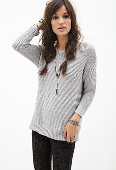( I like the hair style) Size: M Textured Knit Sweater | FOREVER21 - 2000102863