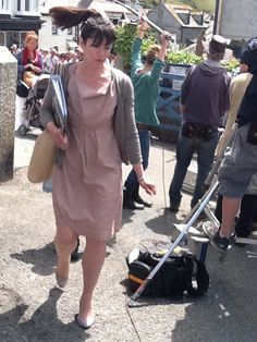 Doc Martin - Caroline Catz. Filming series 5 in July 2011. https:/
