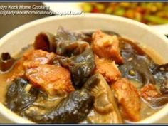 Stewed Hakka Fried Pork Belly with Black Fungus Recipe