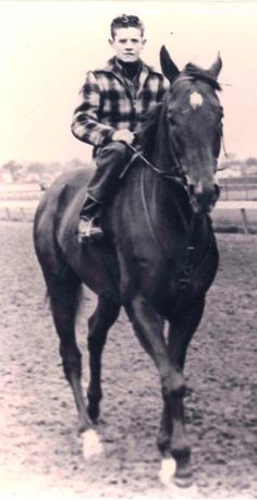 Art Sherman, now the trainer of California Chrome, pictured in 1955 aboard Swaps, another Kentucky Derby winner.