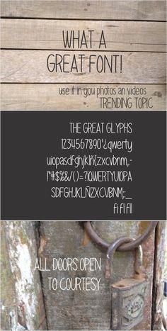 Great Font. Script Fonts. $10.00