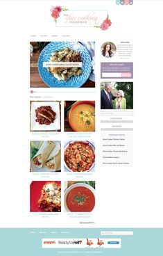 Blog Design for food blogger Slow Cooking Housewife by freeborboleta.com