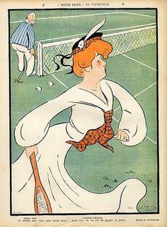 網球場的路上。KC Loves Tennis: 網球與插畫 - Tennis x illustration: Daniel De Losques's work for Le Rire