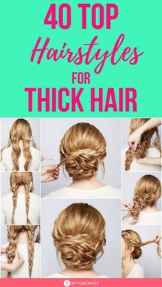 40 Top Hairstyles For Women With Thick Hair - - Hair Tutorials Thick Frizzy Hair, Thick Coarse Hair, Long Wavy Hair, Curls For Thick Hair, Styling Thick Hair, Tips For Thick Hair, Long Hair Dos, Short Wavy, Long Bob