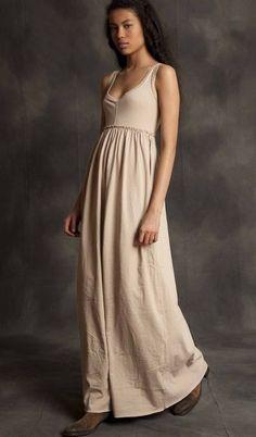 Long Baby Doll Dress by Alabama Chanin