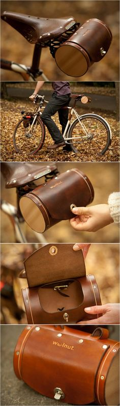 Bicycle Saddle Bag / Barrel Bag // cycling fashion & style