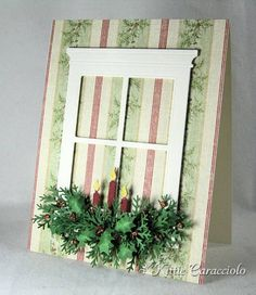 Chrsitmas Candles in the Window by kittie747 - Cards and Paper Crafts at Splitcoaststampers