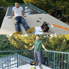 What could be better than deck... how about a tiny house roof deck? We're putting the finishing touches on our roof deck with custom railings. The flooring is a walkable pvc membrane that allows us a waterproof and durable surface! We're planning to sleep out on the deck during the warm  Oregon summer nights.  #tinyhouse #tinyhouses #tinyhousemovement #tinyhouseonwheels #cabin #rooftop #roofdeck #railings #pnw #pnwonderland #oregon #thow #getaway by tinyhousebasecamp