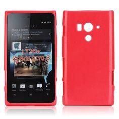 Glitter Shell (Röd) Sony Xperia Acro S-Skydd