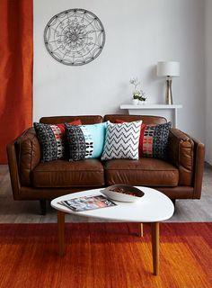 Salon BROOKLYN - Alinéa - Jeu concours Pinterest - A gagner : Un canapé d'une valeur de 499€ ! Jouez sur : https://www.pinterest.com/alinea/les-salons-color%C3%A9s/