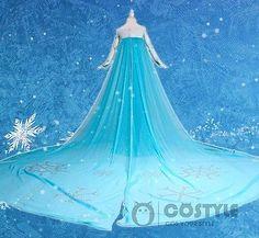 New Children's Disney Animation Frozen Snow Queen Princess Elsa's dress