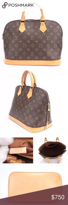 "Auth LV Alma bag Selling my gorgeous Alma LV bag. Excellent pre-owned condition Alma MM bag. 14"" Length, 9.5"" Height, 5"" Depth. Does not include original dust bag. Date code - TH0978. Made in France, 1998. Minor marks as shown. Guaranteed authentic. No trades. Price is firm. Louis Vuitton Bags Satchels"
