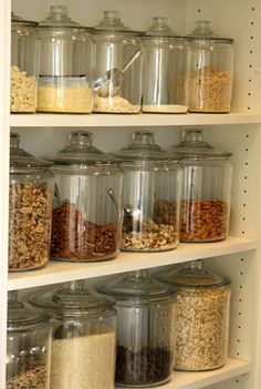 It's annoying when you have to open a ton of boxes and containers just to find the right ingredients for your recipes. Use clear jars instead.  | HellaWella
