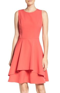 7d8907936ee Free shipping and returns on Vince Camuto Ruffle Fit   Flare Dress at  Nordstrom.com
