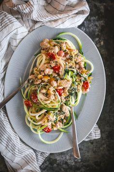 Da jeg spurte hvilke oppskrifter dere ønsket i den nye boka mi sto en sunn variant av pasta carbonara høyt på manges ønskelister. Problemet var bare at boka alt hadde ganske mange retter i kategorien «pasta», så det får eventuelt … Chorizo, Pasta Carbonara, Chili, Bacon, Spaghetti, Ethnic Recipes, Food, Spinach, Red Peppers