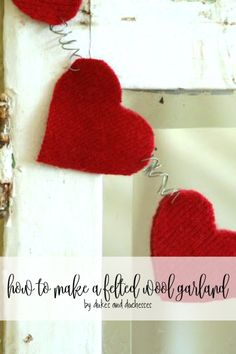 how to make a felted